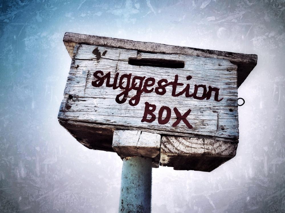 Utilize a caixa de sugestão como ferramentas para comunicação interna